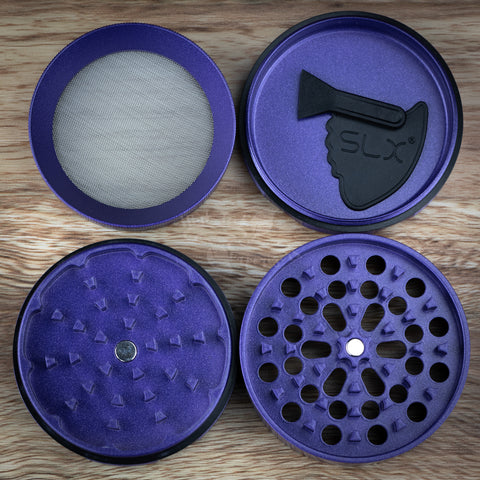 inside the slx v2.5 non stick herb grinder