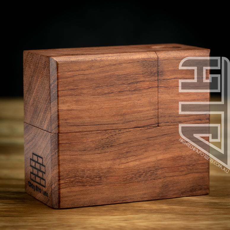 HydroBrick Maxx in bubinga by Sticky Brick Labs