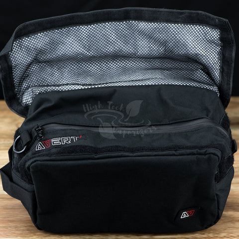 avert travel bag with flap opened