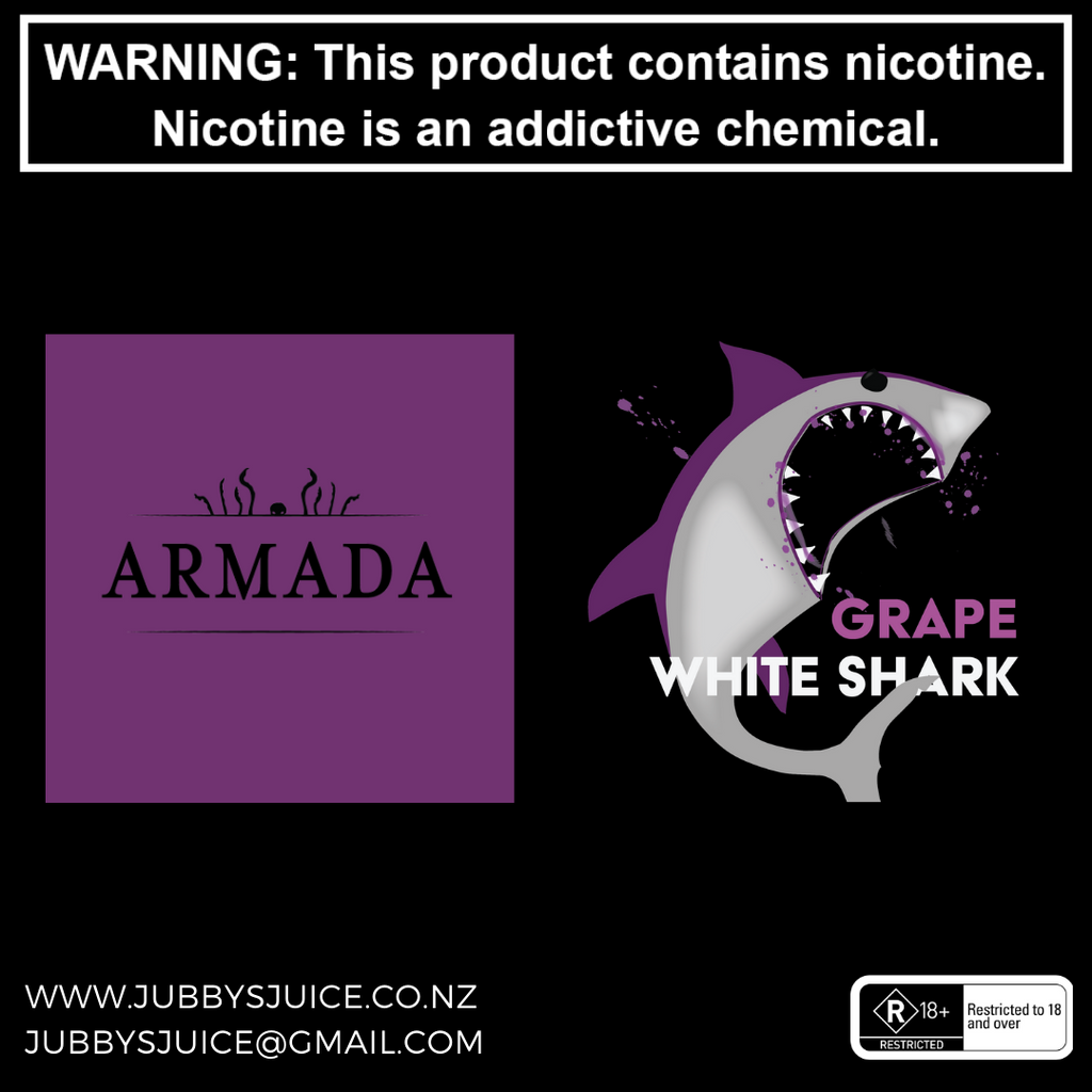 Armada Vapour - Grape White Shark 100ml