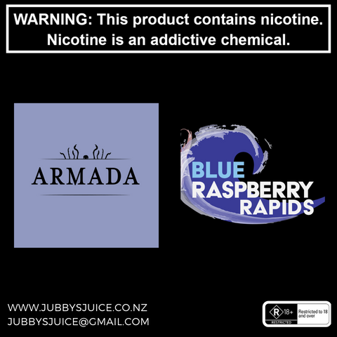 Armada Vapour - Blue Raspberry Rapids 100ml