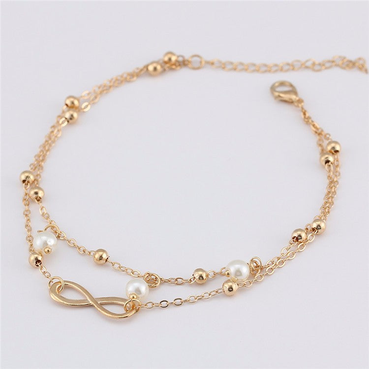 new for from women color sandals anklet beach anklets pearl ankle bracelet xinyao item in jewelry infinity leg chain foot gold