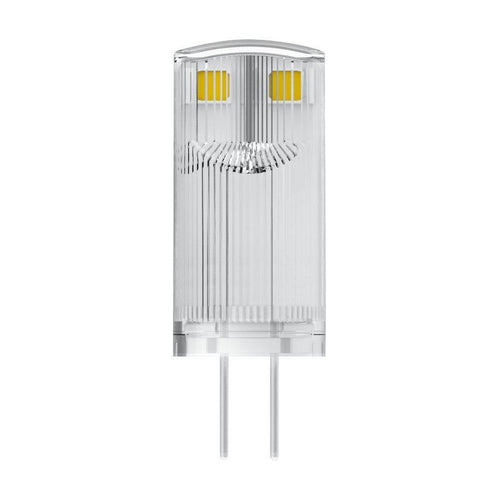 OSRAM LED BASE PIN G4 12 V / LED-Lampe: G4, 0,90 W, 10-W-Ersatz-für, klar, Warm White, 2700 K, 3-Pack-LEDVANCE-LEDVANCE Shop