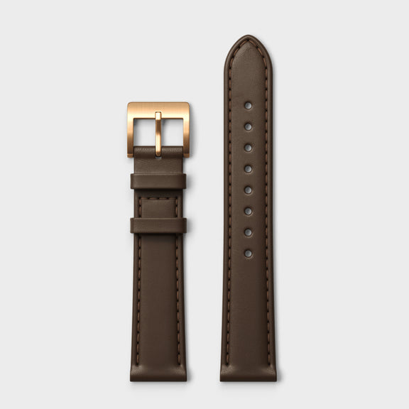 VERK – Rosé / Mocha, Leather strap