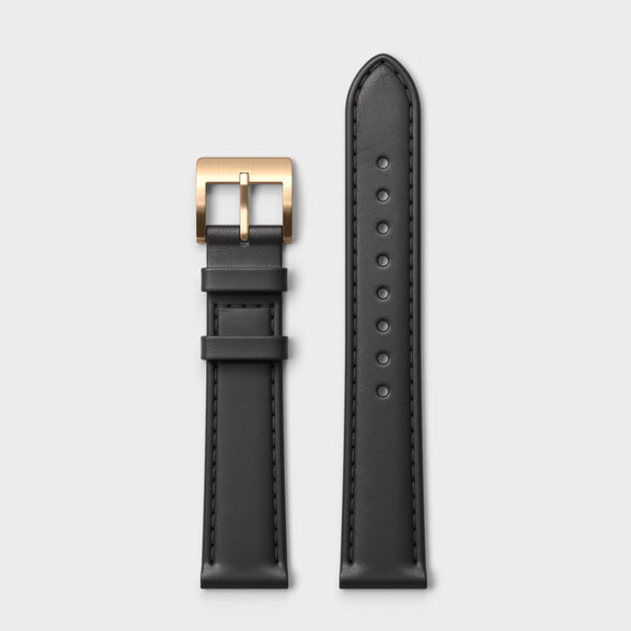 VERK – Rosé / Black, Leather strap