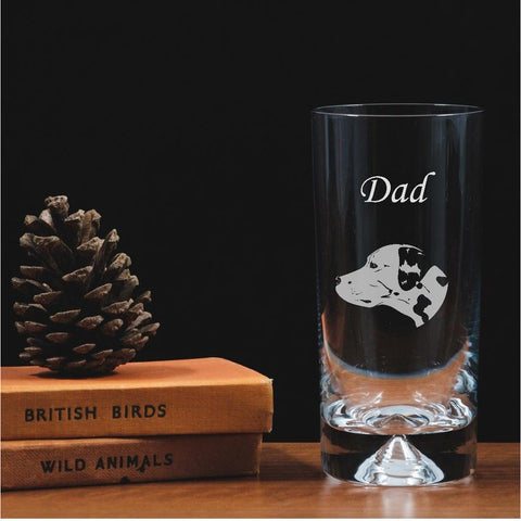 Personalised Engraved Highball Glass - Dalmatian Dog