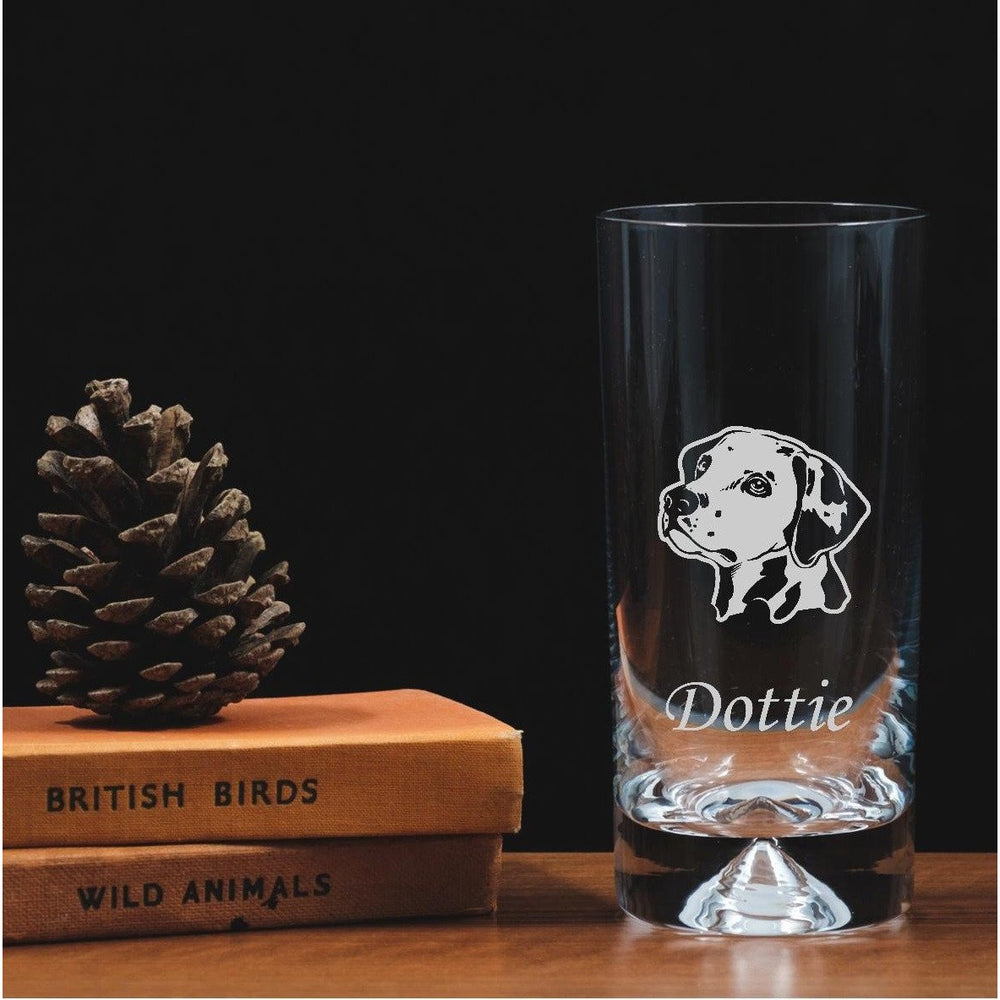 Personalised Engraved Highball Glass - Dalmatian