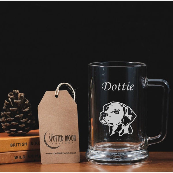 Personalised Engraved One Pint Glass Tankard - Dalmatian