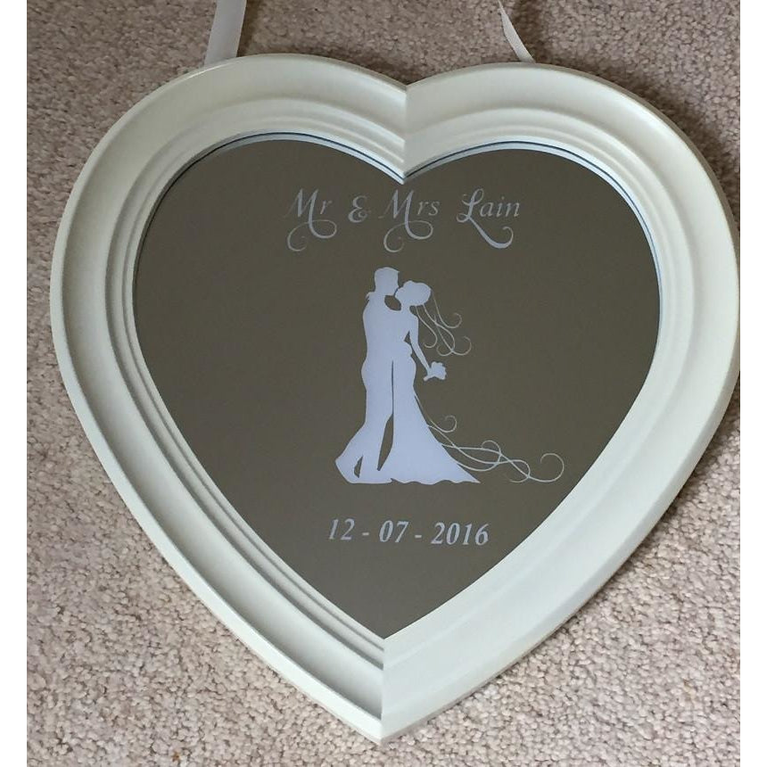 Wedding bespoke engraved mirror - contact us for more information - The Spotted Moon Company