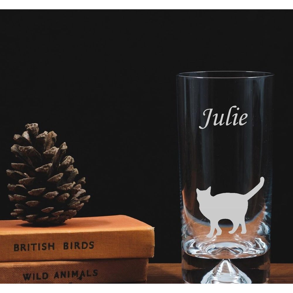 Engraved Highball Glass - Cat - The Spotted Moon Company