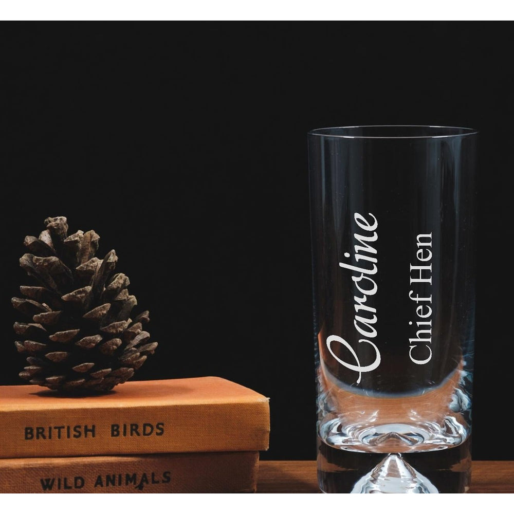 Personalised engraved highball - Chief Hen - The Spotted Moon Company
