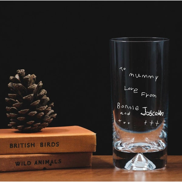 Personalised Engraved Highball - Child's handwriting - The Spotted Moon Company