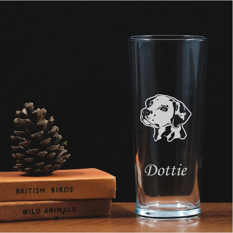 Personalised Engraved One Pint Glass - Dalmatian
