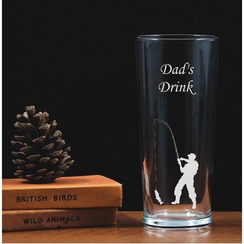 Personalised Engraved One Pint Glass  - Fisherman