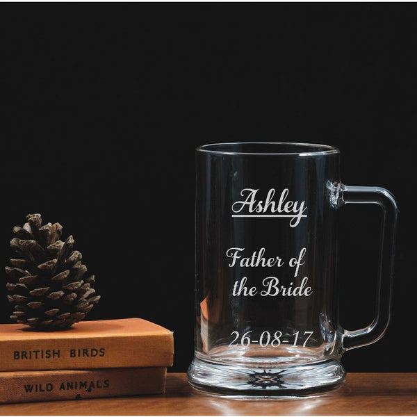 Personalised engraved tankard - wedding - father of the bride - The Spotted Moon Company