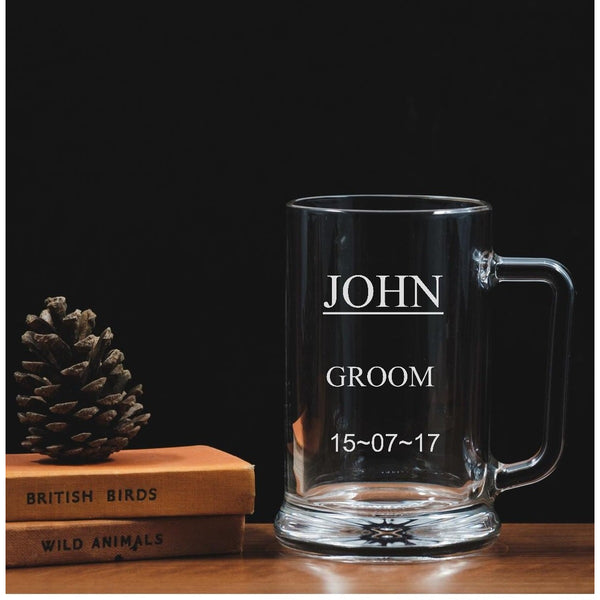 Personalised Engraved Tankard - Wedding - Groom - The Spotted Moon Company