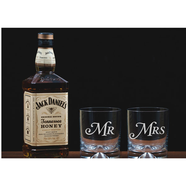 Mr and Mrs Engraved Tumblers - The Spotted Moon Company
