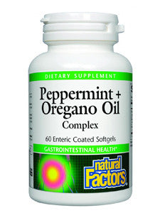 Peppermint + Oregnao Oil 60 enteric coated softgels