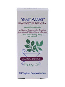 Yeast Arrest Vaginal Suppositories 28 caps