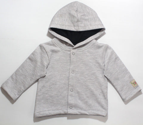 Hooded Track Top - Grey - Sebastian Kids Apparel