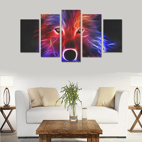 WALL ART WOLF CANVAS ART