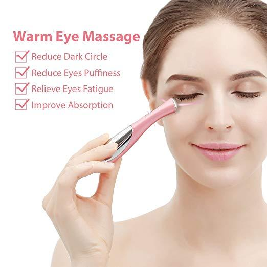 Portable eye skin massage device