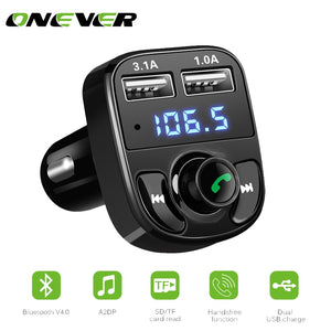 Handsfree Call Car Charger,Wireless Bluetooth FM