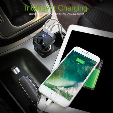 Image of Handsfree Call Car Charger,Wireless Bluetooth FM
