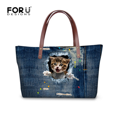 HANDBAG CASUAL BAG CUTE CAT