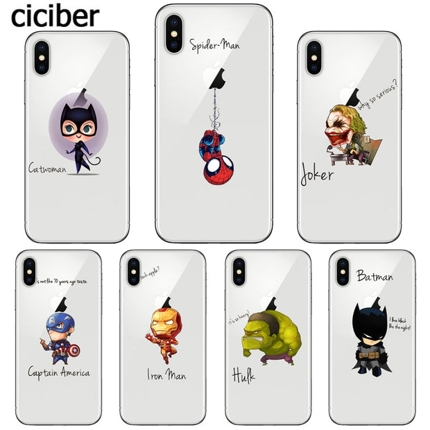 Funny Marvel Case for Apple iphone X