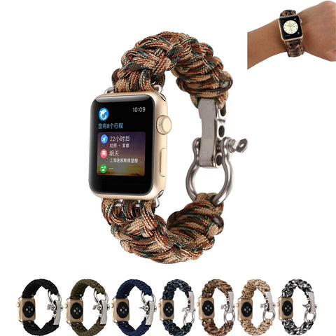 Image of Woven nylon Rope Watch strap for Apple Watch