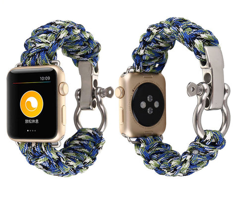 Woven nylon Rope Watch strap for Apple Watch