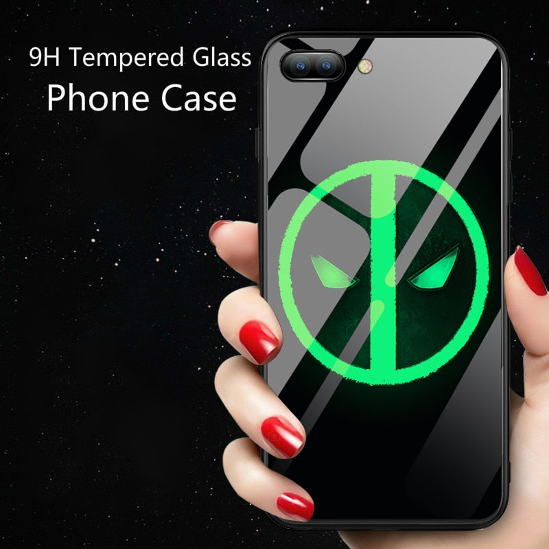 IPHONE X Night Luminous Glass Case For iphone