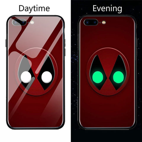 Image of IPHONE X Night Luminous Glass Case For iphone