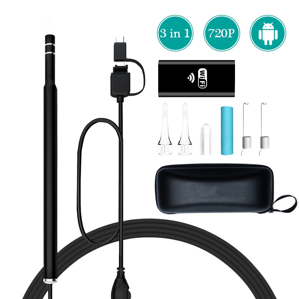 WIRELESS CLEANING ENDOSCOPE FOR ANDROID and IOS