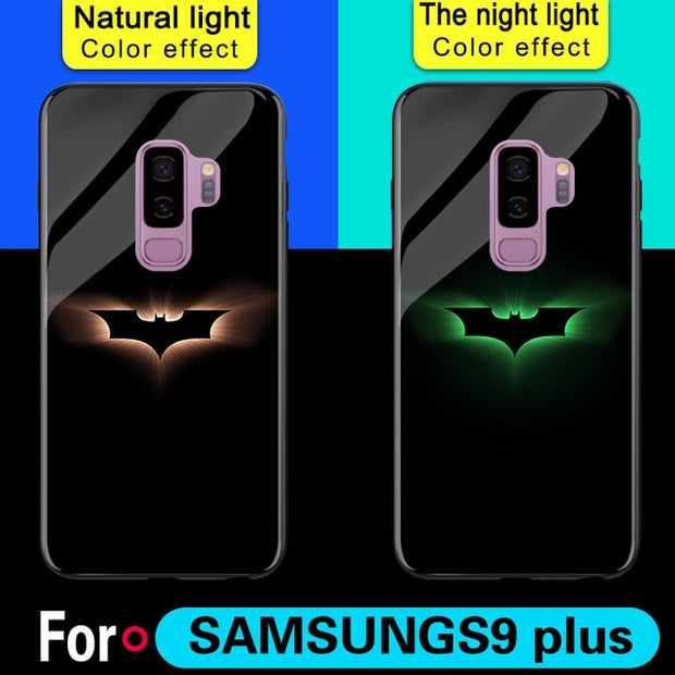 For Samsung  Luxury Luminous Tempered Glass Cases