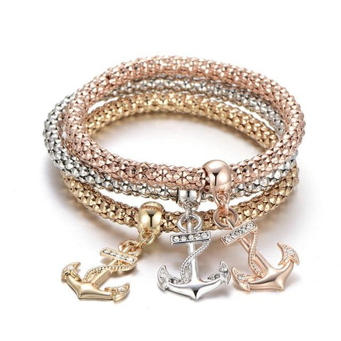 3 Piece Bracelet with Charms