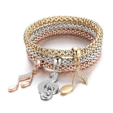 Image of 3 Piece Bracelet with Charms