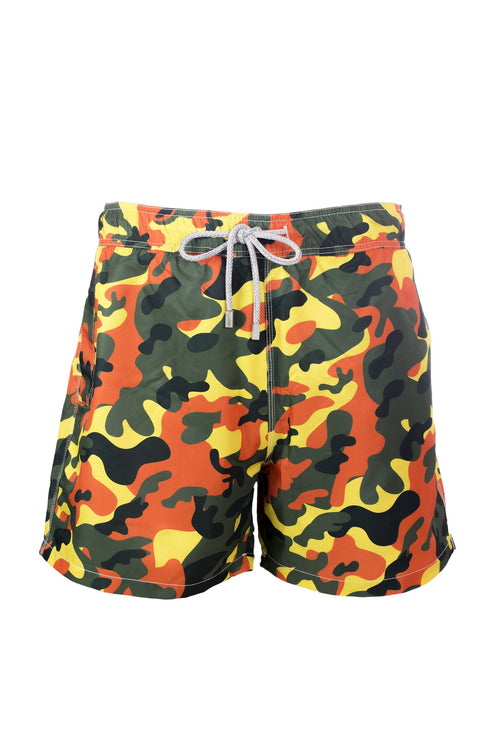 Camo Yellow Men Short