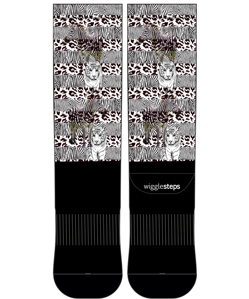 Zebra & Tiger Performance Long Sock