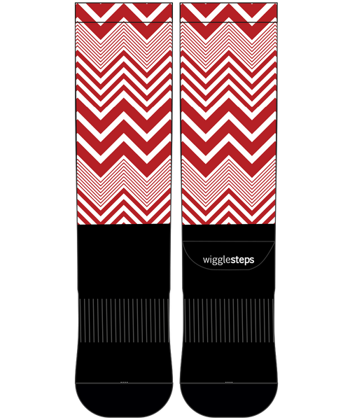 Zig Zag I Performance Long Sock