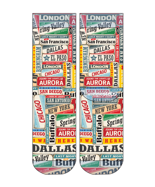Vintage Cities Men Sock