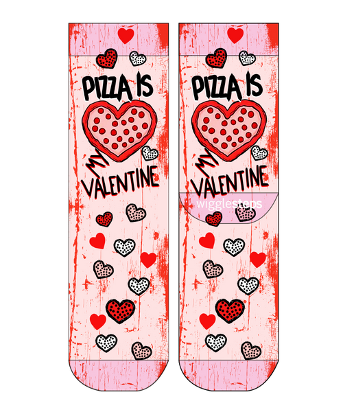 Pizza Is My Valentine Lady Sock