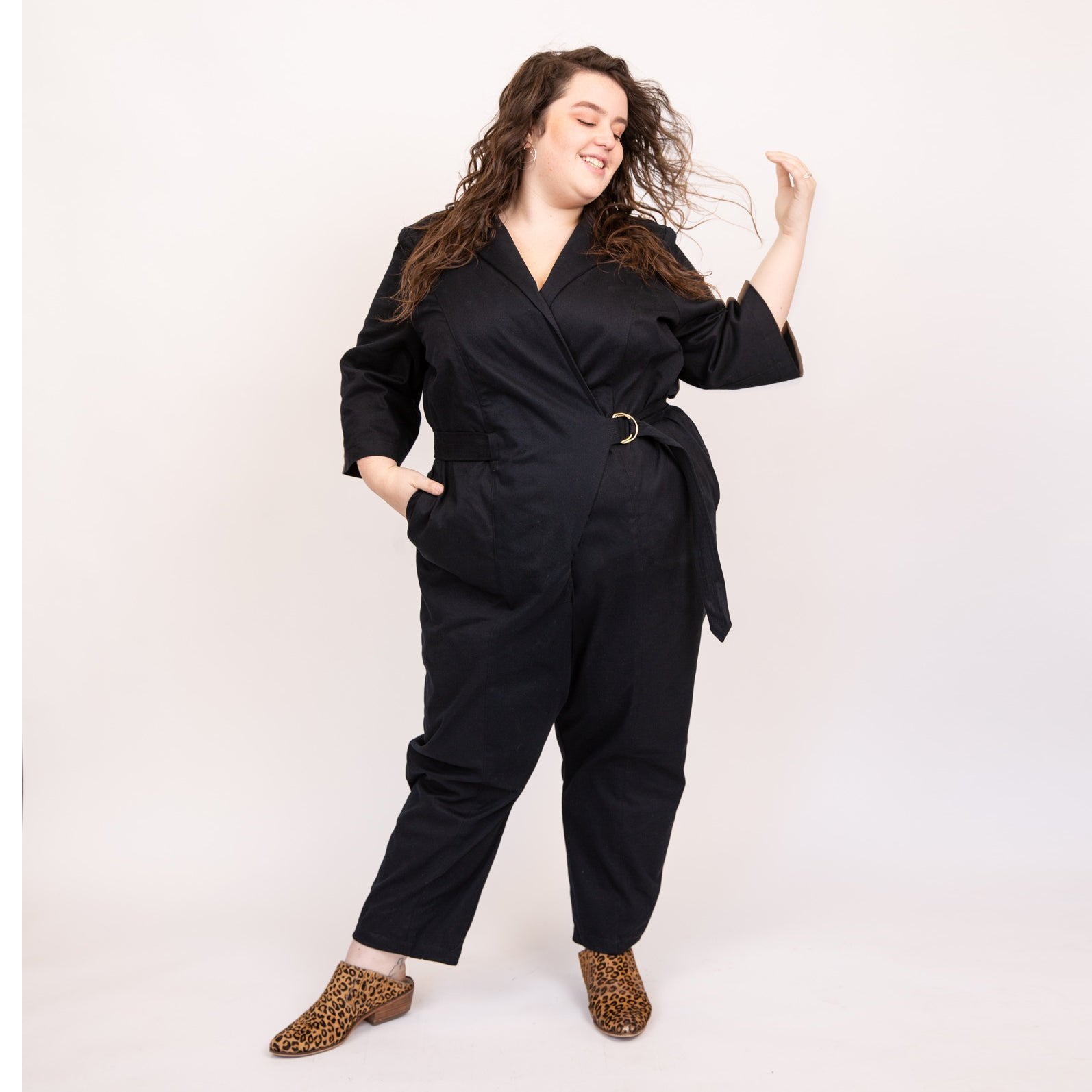 The Rosie Jumpsuit Wrap Style Boiler Suit Alice Alexander