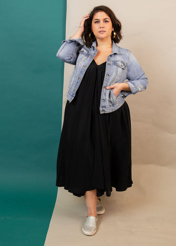 casual black dress, sustainable black Dress, plus size little black dress