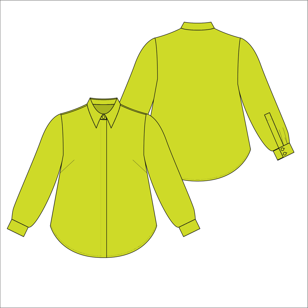 Chartreuse Ina Blouse Alice Alexander