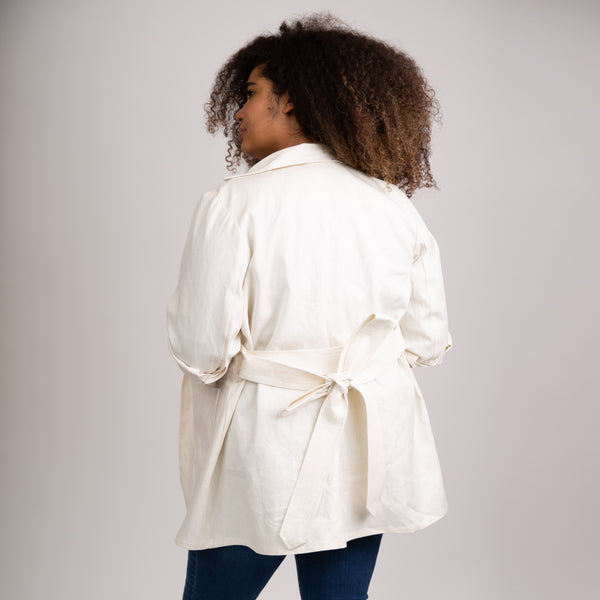 The Bessie Adventure Jacket in Ivory