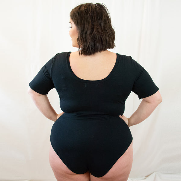 Plus size bodysuit, ethical bodysuit, ethical plus size, sustainable bodysuit