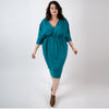 merino wool dress, sustainable winter dress, ethical plus size winter dress