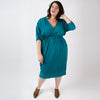 The Claire Dress in Hand-dyed Merino Wool